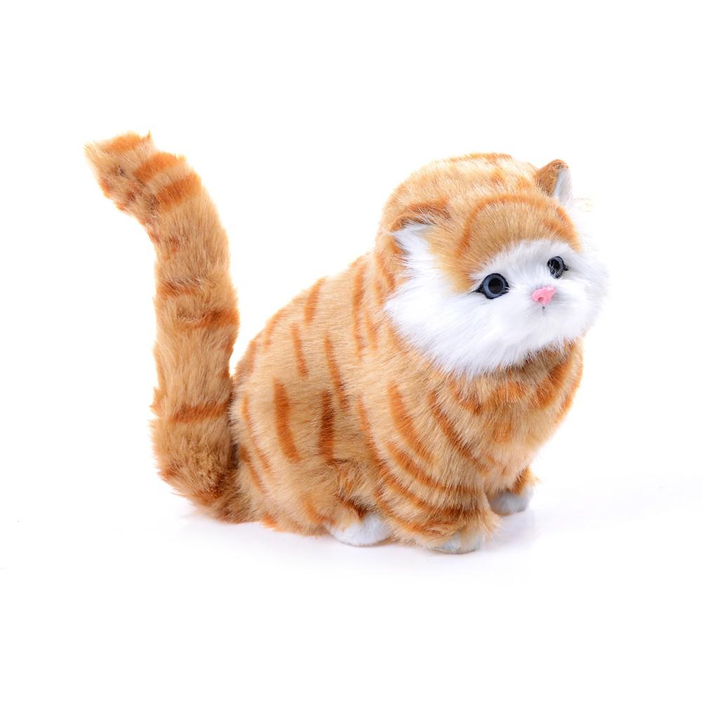 [Bayar di Tempat]Boneka Plush Kucing Elektrik dengan Suara