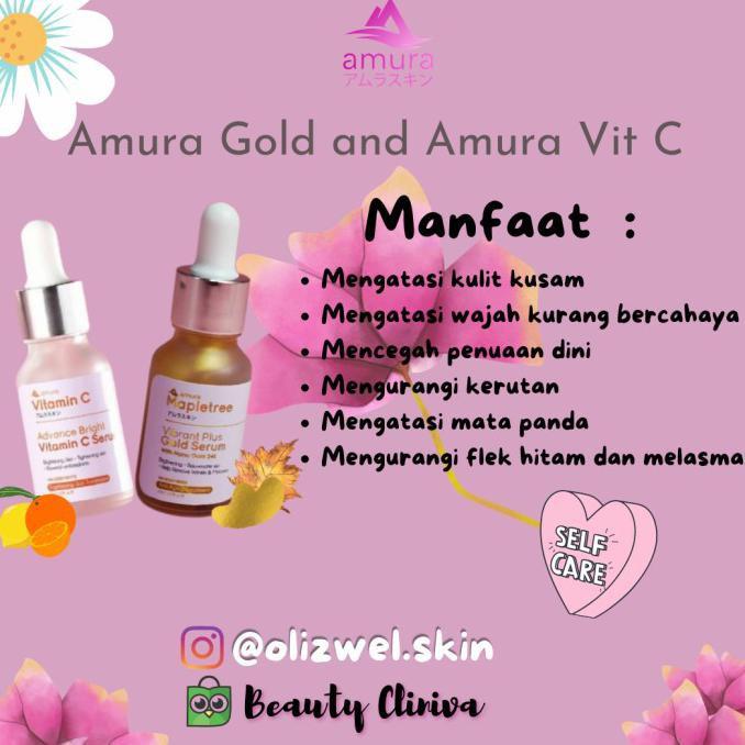 (Promo) Amura Expert Serum Amura Gold Amura Vitamin C Flek Hitam Melasma