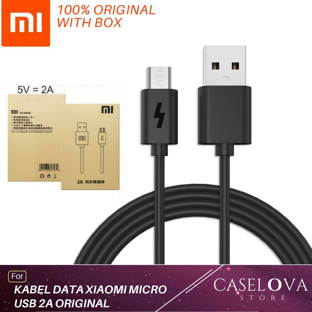 Charger Xiaomi Original 2a Fast Charging Travel 2ampere Micro Usb Shopee Indonesia