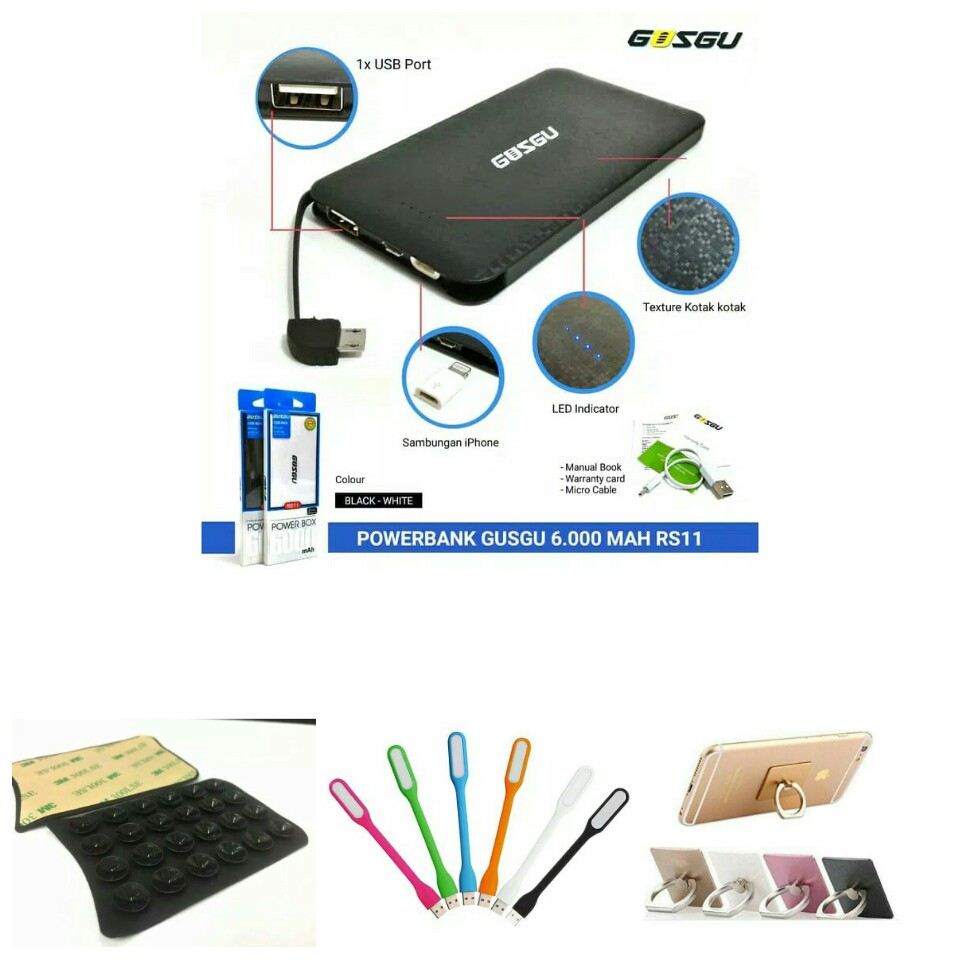Buy 1 Get 4 Powerbank Original Real Capacity Gusgu Rs 11 6000 Mah New Delcell Link Wireless 8600mah Polymer Shopee Indonesia