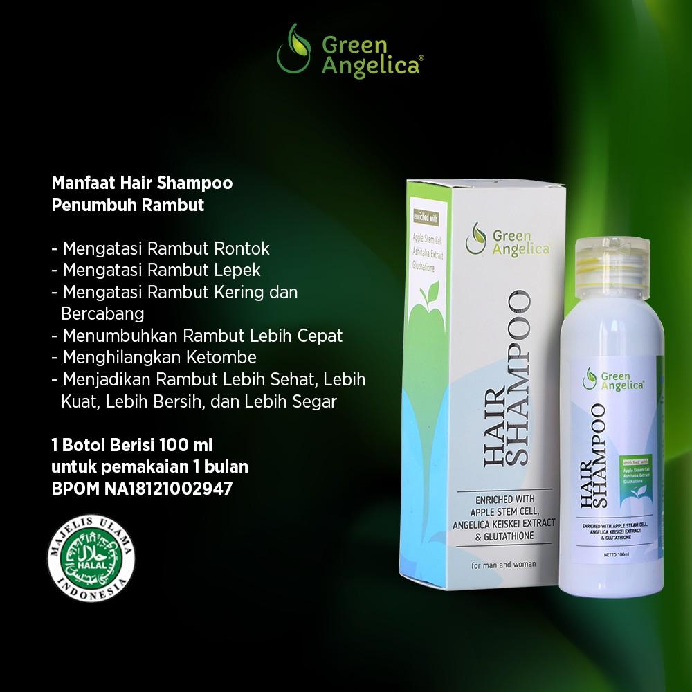 Vitamin Rambut Rontok Cara Cepat Mengatasi Kerontokan dengan Shampoo Green  Angelica Penumbuh Rambut  ebe317df8e