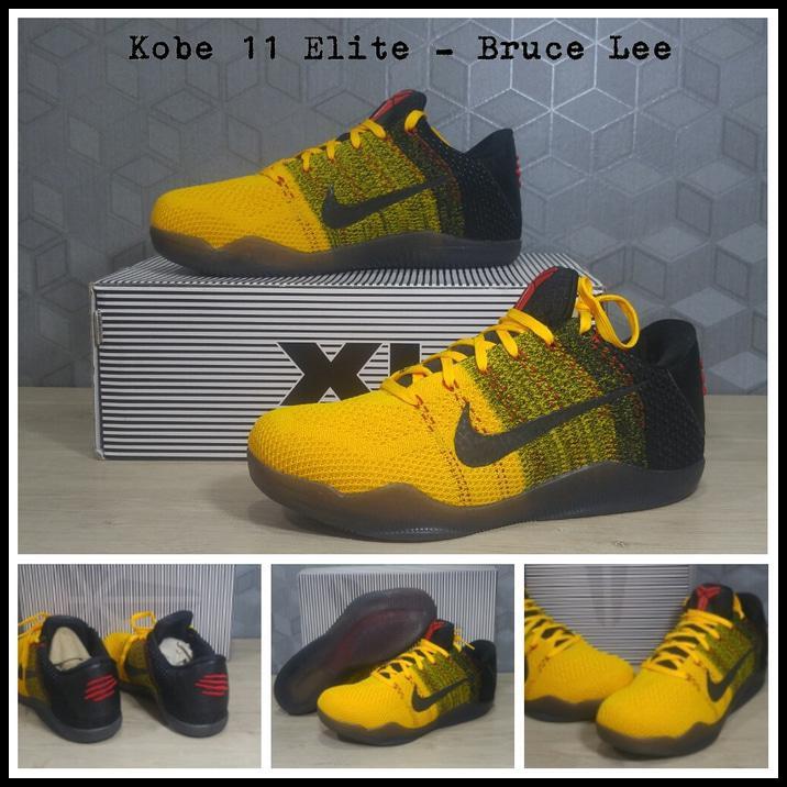 ad2a55044e4b HOT Sepatu Basket Nike Kobe 11 Elite (Flyknit) - Bruce Lee Berkualitas