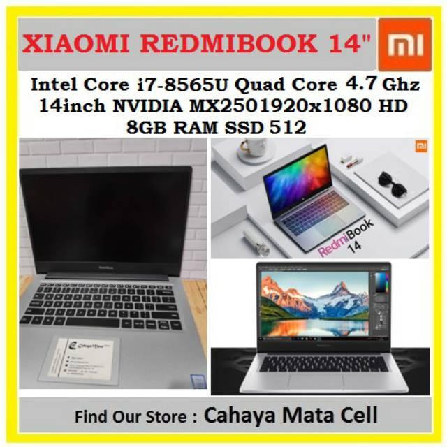 Xiaomi Redmibook 14 inch i7-8565U 512GB Windows 10 Home English Notebook