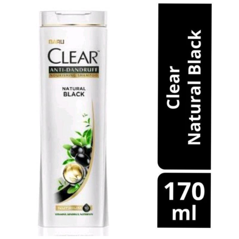 CLEAR  NATURAL BLACK ANTI DANDRUFT FREE SISIR KRAMAS 170ml-1