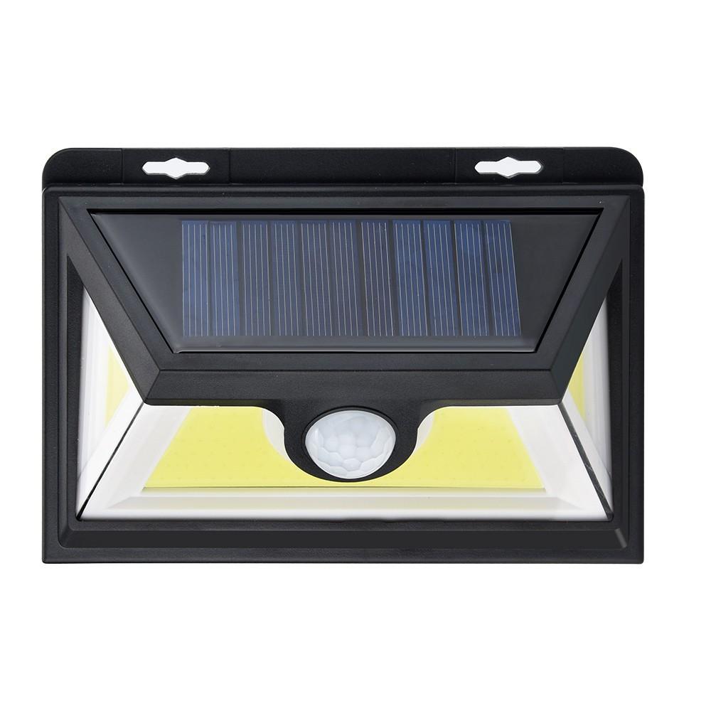 120 Lumens 6 SMD LED Solar Powered PIR Motion Sensor Security Wall Light Garden
