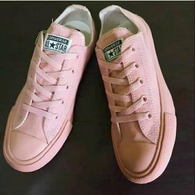 Sepatu Converse Allstar Pink Peach Shopee Indonesia
