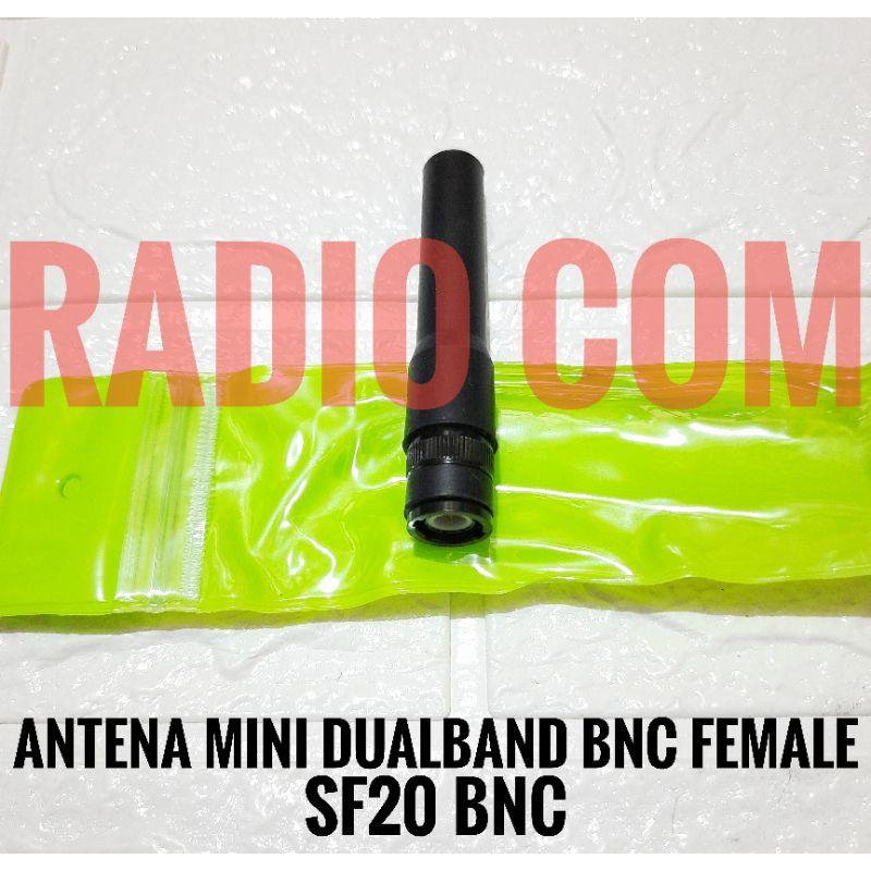 ANTENA MINI HT ICOM V80 V85 V86 ALINCO DJ 196 DJ195 W58 ANTENA HT DUALBAND MINI BNC FEMALE SF20