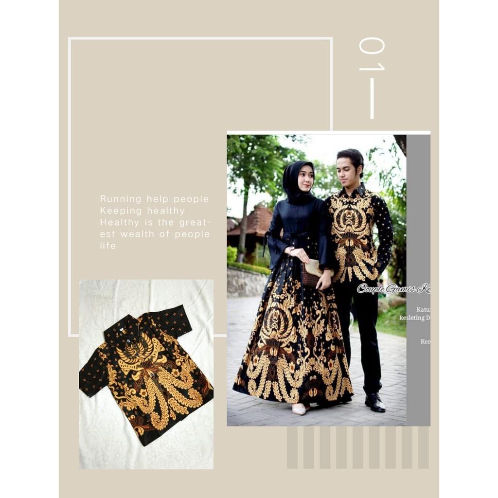 Baju batik couple keluarga murah meriah model gamis pesta modis anak muda