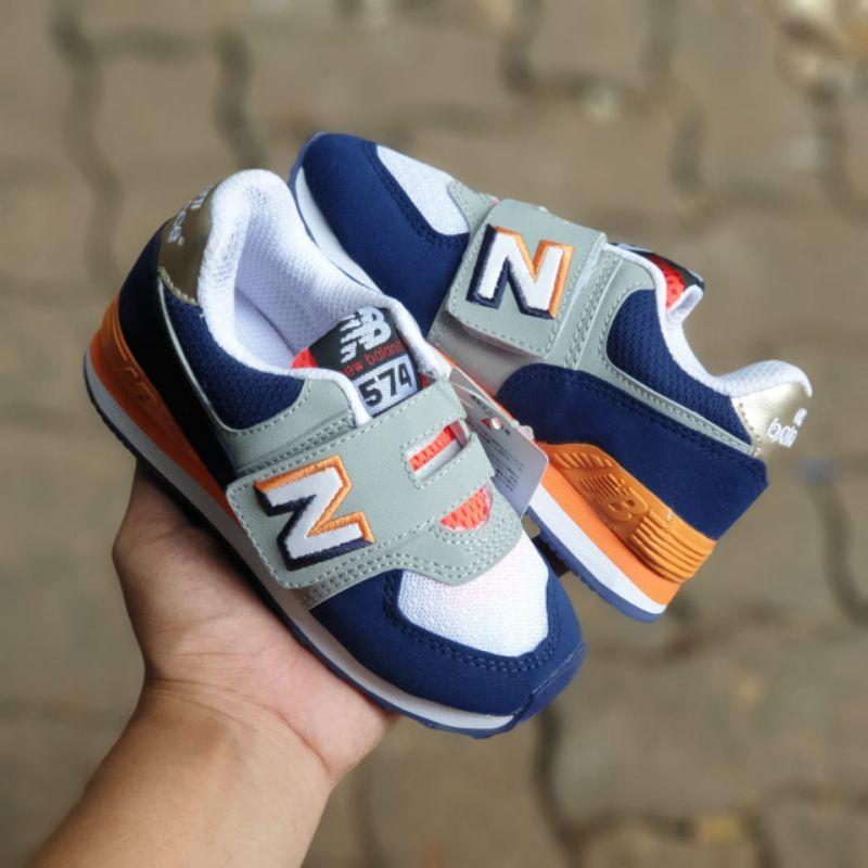 New Balance 574 Encap Anak Kids White Navy Brown Impor BNIB