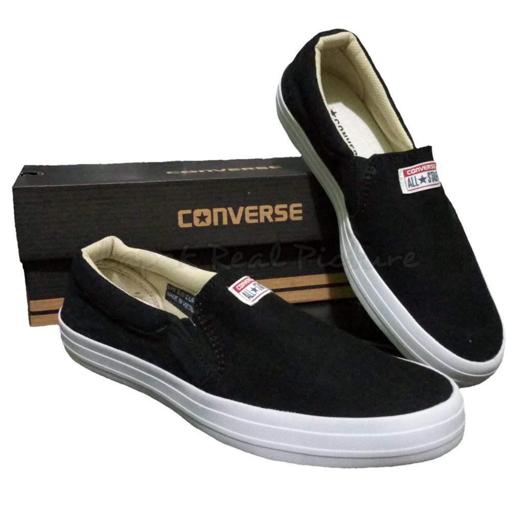 Sepatu Pria Snk7 Converse Slipon Sneakers Kasualwanita Santai