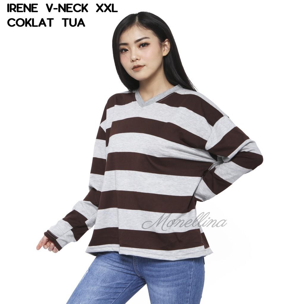 Belle Fashion Baju Atasan Sweater Kombinasi Polos Murah Wanita 1406 ... 54e6355833