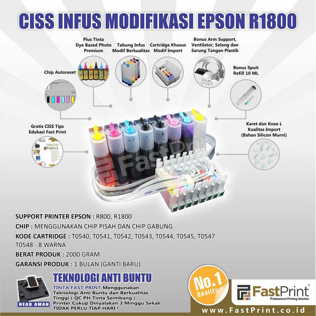 Printer Modifikasi Epson L360 Plus Tinta Sublim Korea Shopee Indonesia Roller Selang Ciss Infus Modif