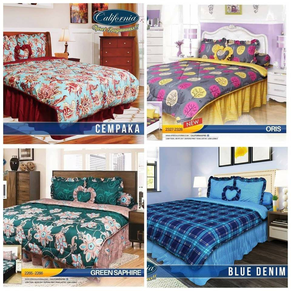 Juragan Bedcover Set California King 180 X 200 Bed Cover Sprei Katun Import  Uk 120x200 Single 461 Shopee Indonesia