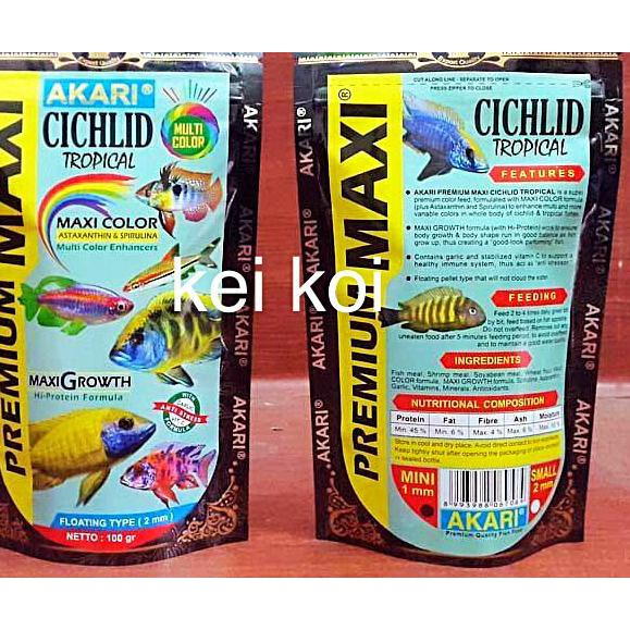 New Stock Akari Premium Maxi Cichlid Tropical 100 Gram