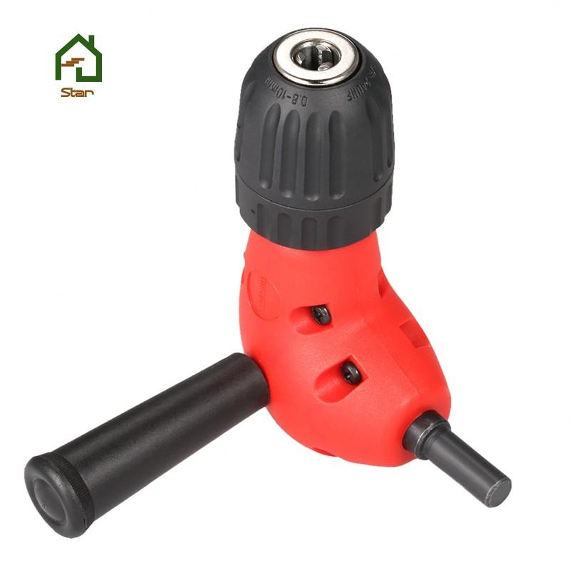 Right angled drill chuck attachment 90 degree 10mm keyless