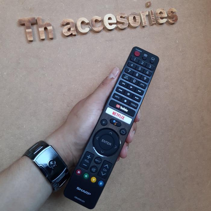 Sale Remote Tv Sharp Android Tv Original Gb326Wjsa Ori100%
