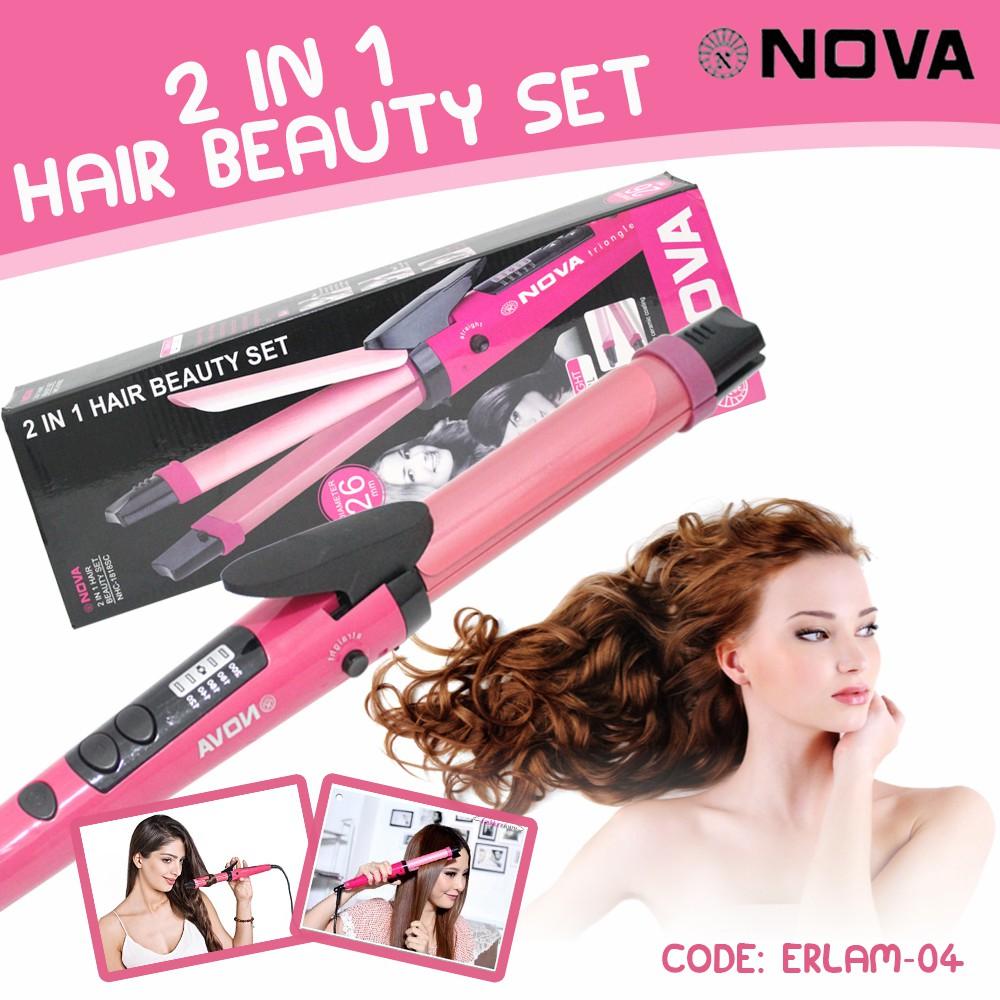 Catok 2in1 De Rucci Catokan 2 In 1 Pelurus Pengeriting Rambut Murah Professional Hair Straightener Shopee Indonesia