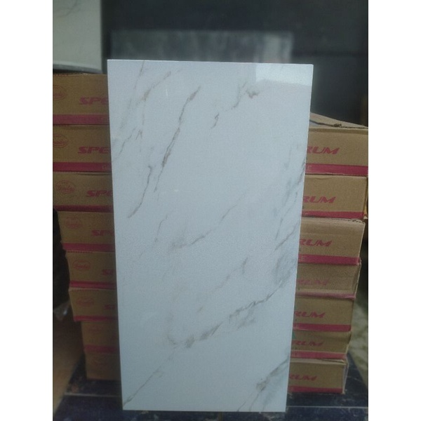 Keramik 30x60 Roman putih motip
