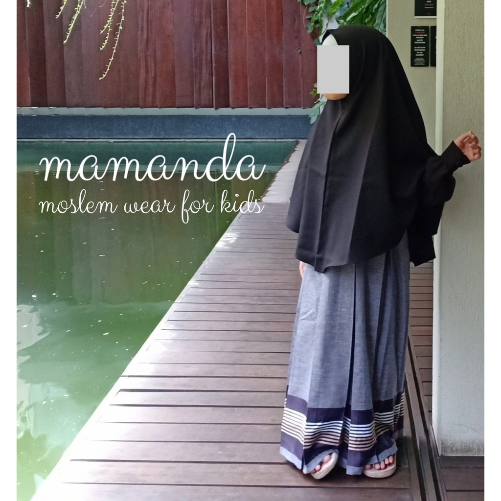 Gamis Anak Madina Black Ultimate Series by Mamanda