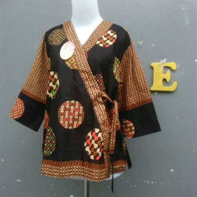 Atasan Blouse Batik Model Kimono