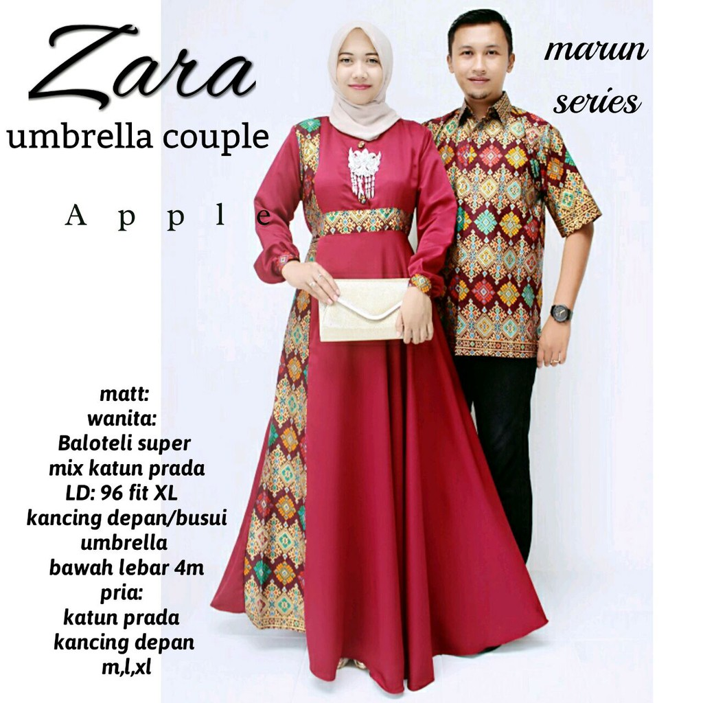 Zola_Batik Couple Gamis Zara