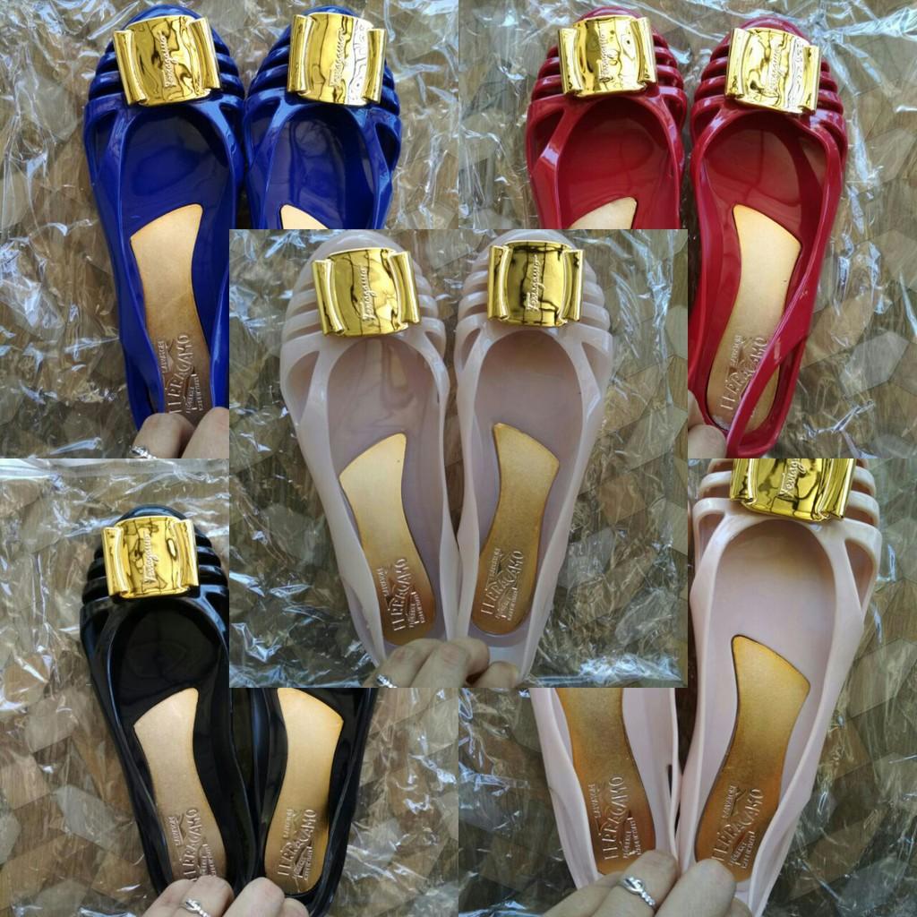 Promo Spesial Lebaran Sepatu Flat Jelly Shoes Wanita Premium Amazara Cara Pink Nude Flatshoes Merah Muda 37 Salvatore Ferragamo Jellyshoes Shopee Indonesia
