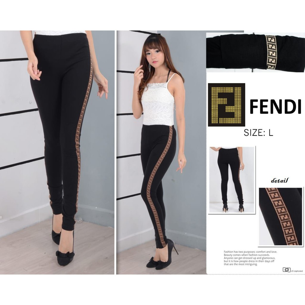 Lolile Celana Legging Fendi All Fit To L Shopee Indonesia