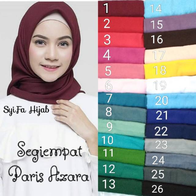 Segiempat Paris Azara Jilbab Paris Azara Hijab Paris Azara Kerudung Paris Azara Bisa Ecer Shopee Indonesia