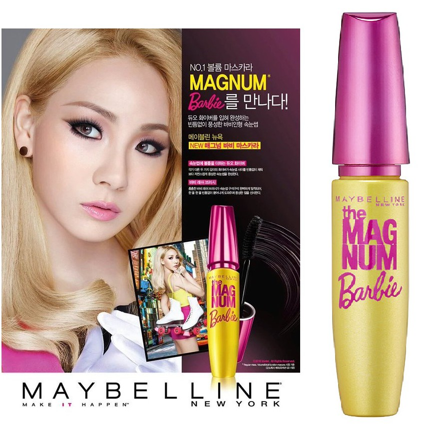 81a440fefaf Mascara Maybelline Magnum Barbie Waterproof - Original | Shopee Indonesia