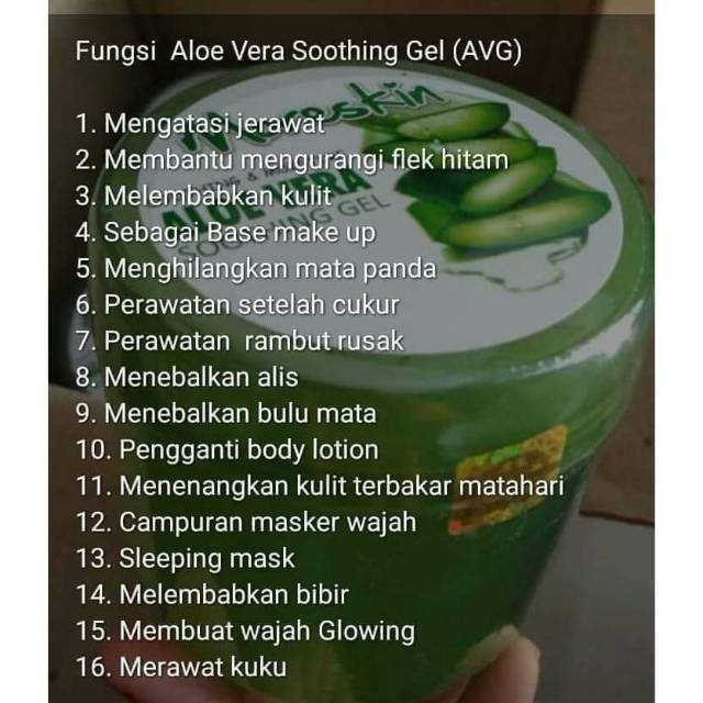 Moreskin Aloe Vera Soothing Gel Avg Nasa Shopee Indonesia