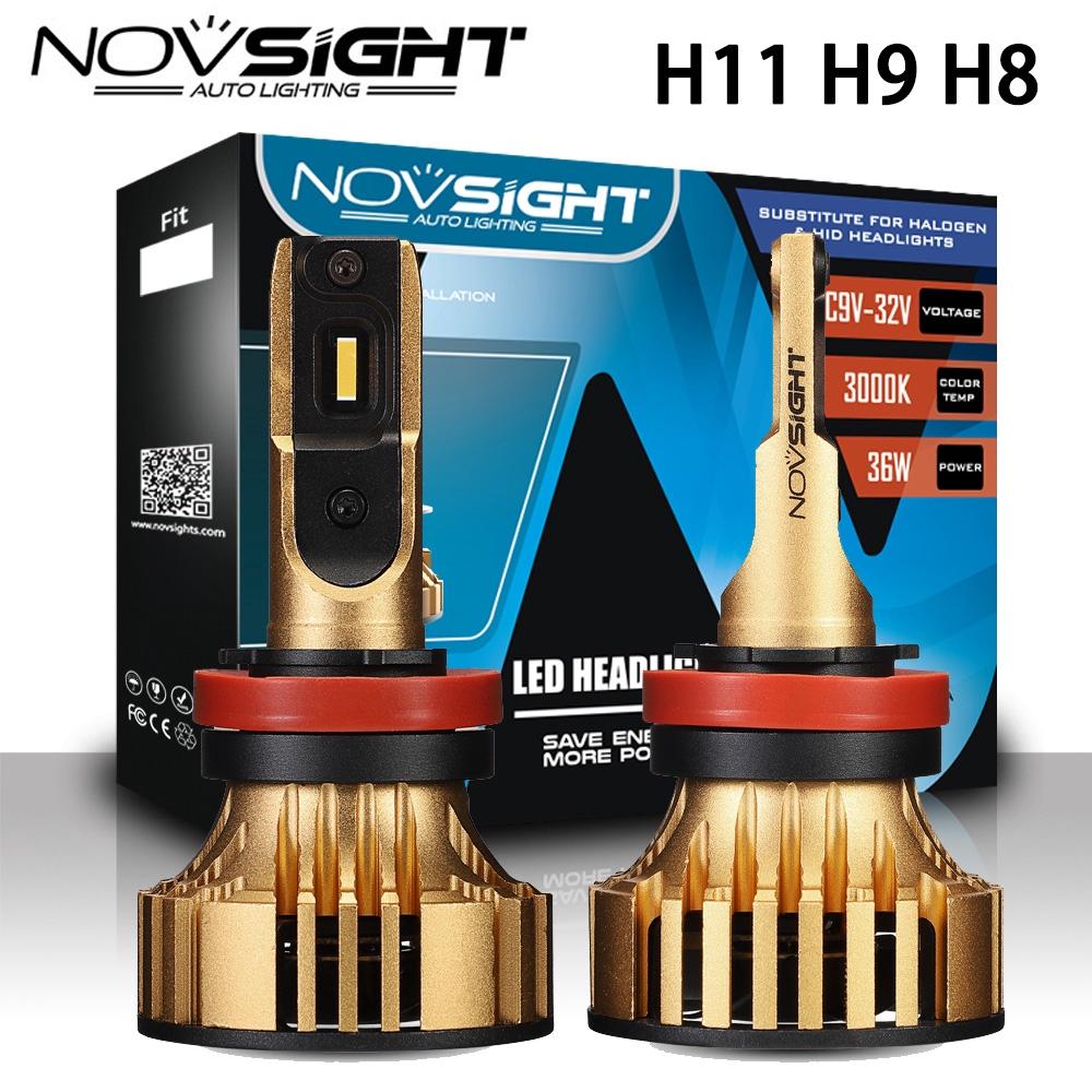 Lampu Depan Led H11 H9 H8 N19 12000lm 3000k Cree Daya Tinggi Warna Kuning 360 Shopee Indonesia