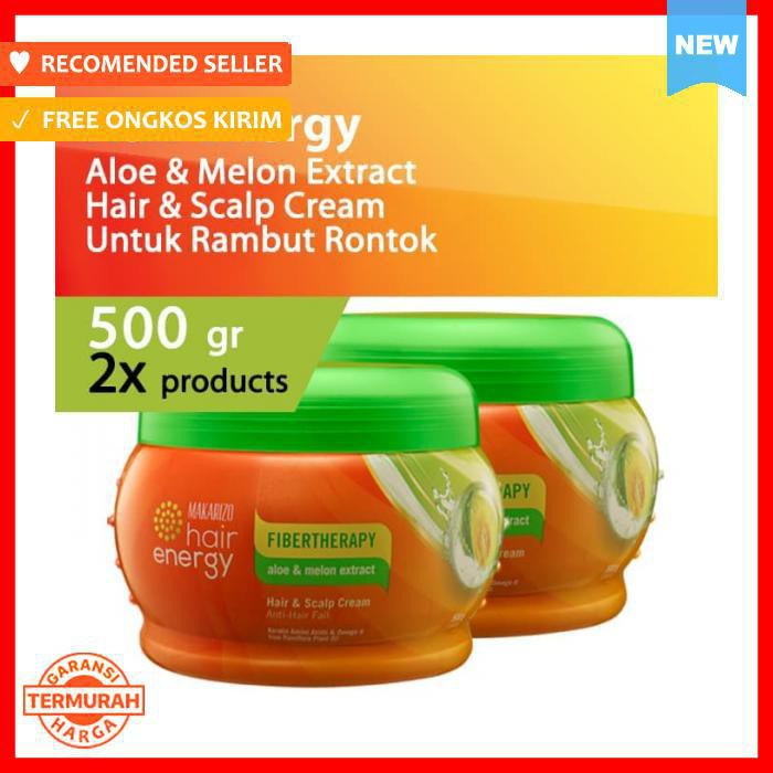 Vitamin Rambut Makarizo Hair Energy Fiberteraphy Aloe Melon 500 Gr