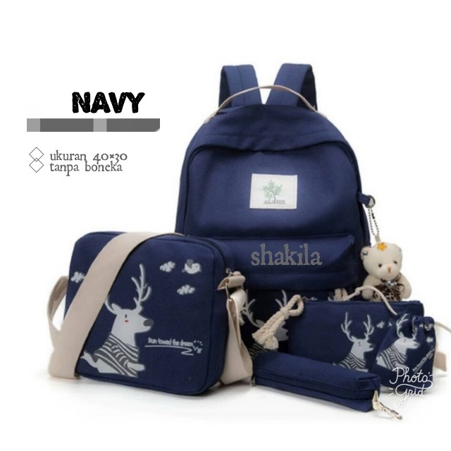 laris banget!!! backpack fashion set beruang no boneka murah ... d89264a2a5