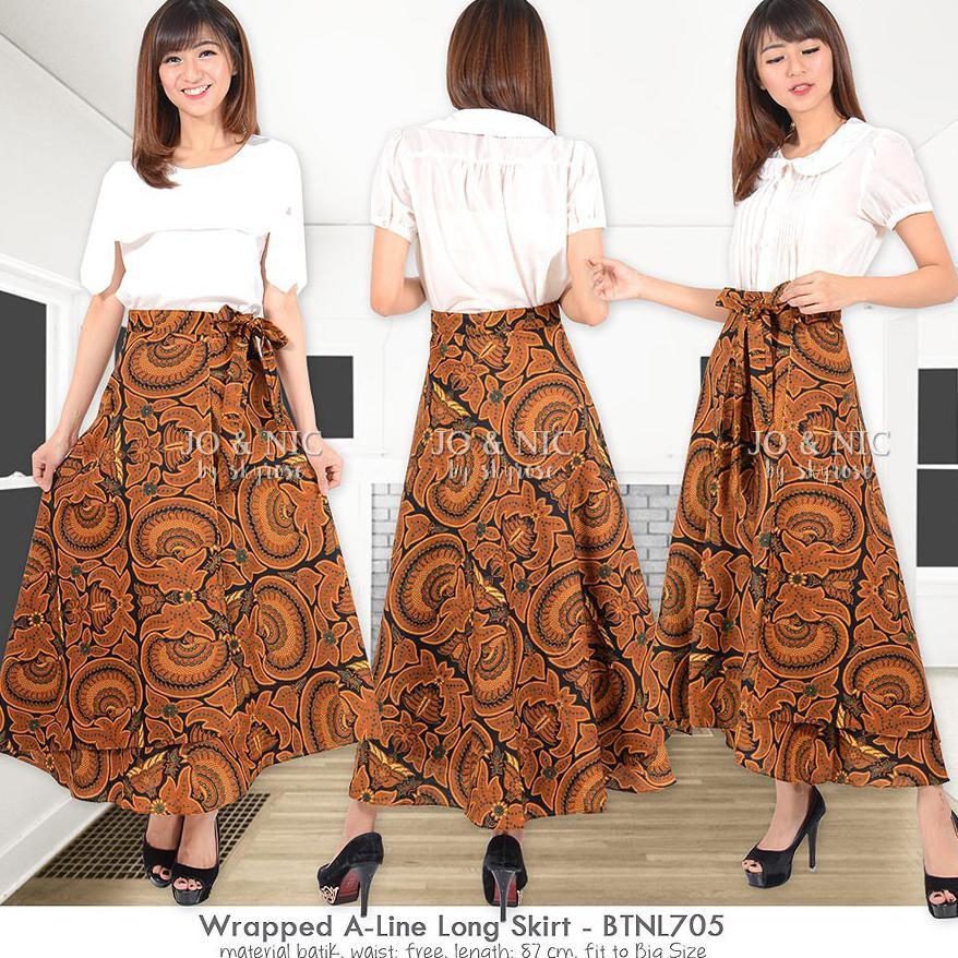 Rok Lilit Batik Jumbo - Wrapped A-Line Long Skirt AllSize 2 motif | Shopee Indonesia