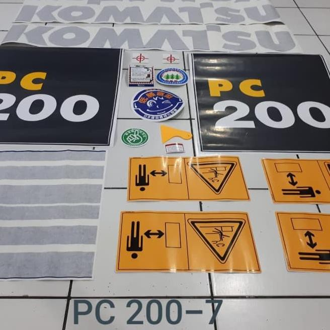 DRD Sticker Excavator Komatsu PC 200-7 PC200-8 PC200-6 → ✣ღ