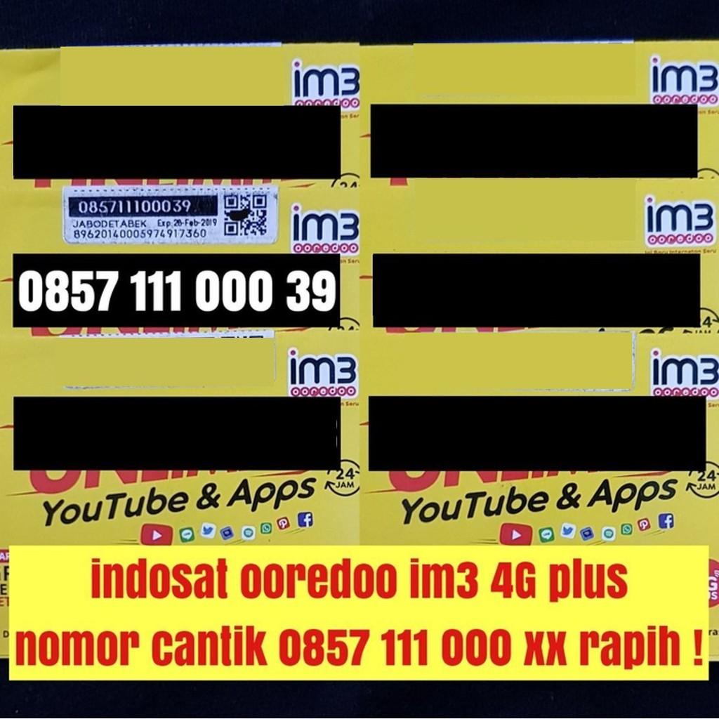 kartu perdana indosat ooredoo 4G plus nomer cantik nano micro standar simcard | Shopee Indonesia