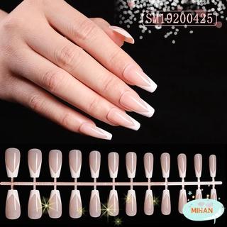 Mihan Kuku Palsu Full Cover Motif Bulan Sabit Untuk Manicure Nail Art thumbnail