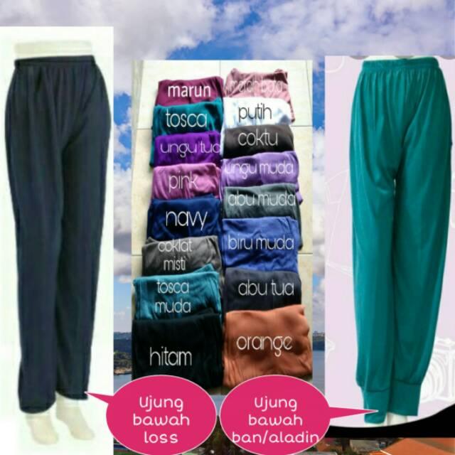 Celana Dalaman Gamis Legging Dalaman Gamis Celamis Polos Celamis Standar Model Aladin Shopee Indonesia
