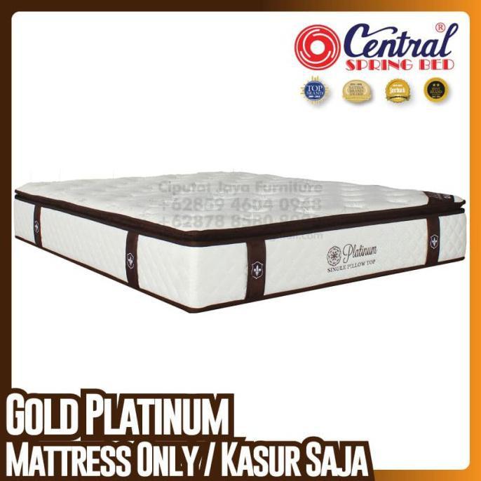 [[BISA COD]] Central New Gold Platinum - SpringBed - Ukuran 160 x 200 cm BERGARANSI Kode 1311