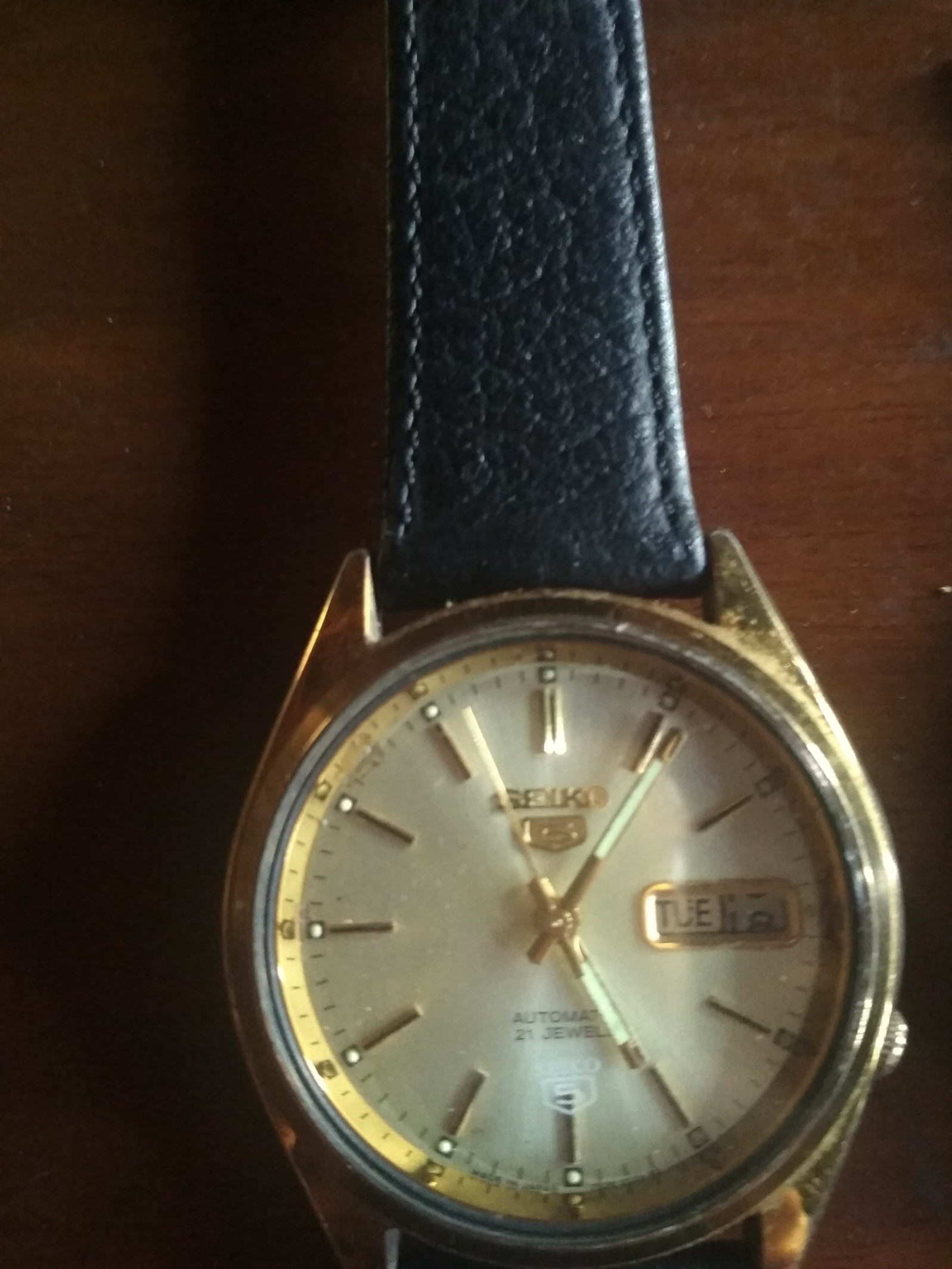 Jam tangan analog seiko 5 21 jewels
