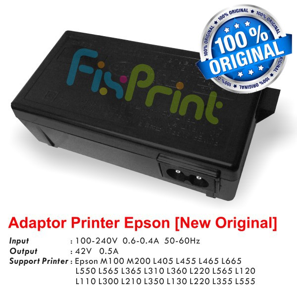 Adaptor Power Supply Printer Epson L120 L110 L210 L220 L300 L350 L355 L360  L565 L555 M100 M200 L405
