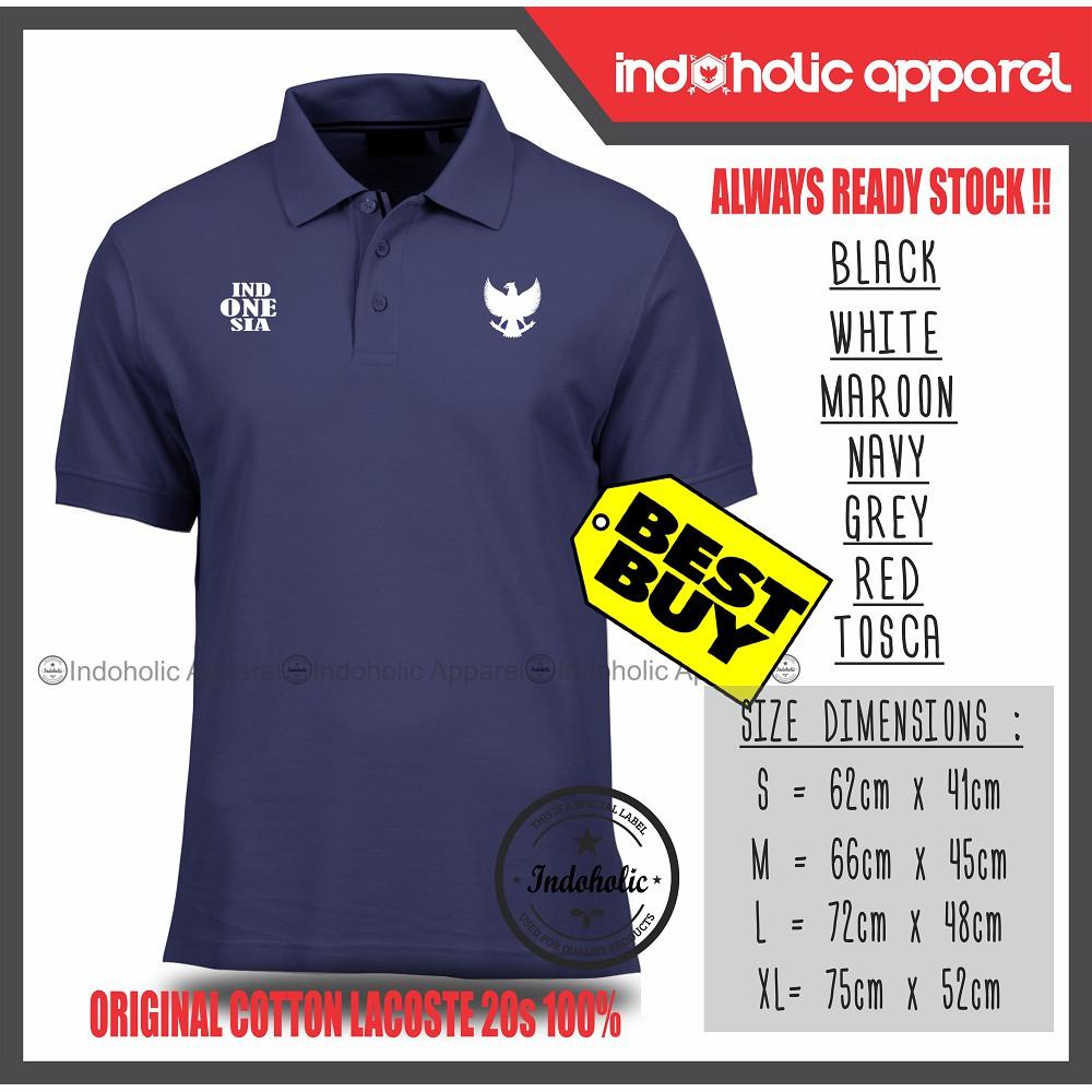 Kaos kerah Polo shirt pria, bahan Cotton Lacoste Pique (COTTON) size S, M,  L, XL   Shopee Indonesia 3e852f0c65