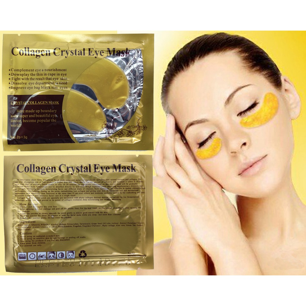 〖stylestory〗Satu Pasang Golden Mask Mata Crystal Collagen Gold Powder Eye Mask Skin Care | Shopee Indonesia