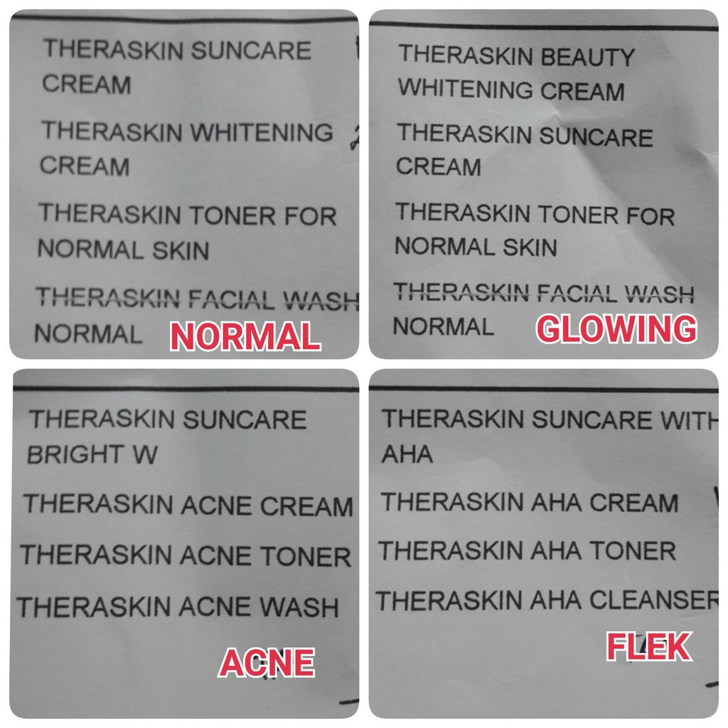 Paket Glowing Cream Theraskin Original Bpom Oily