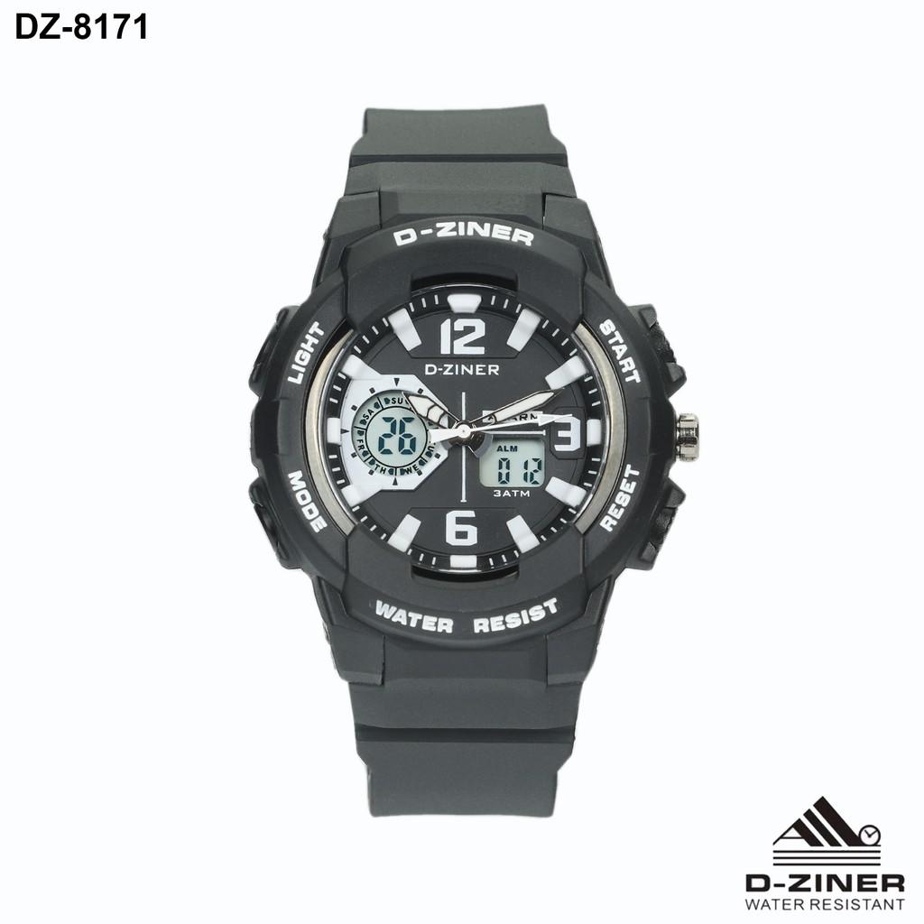 D-Ziner DZ-8200 Digital Jam Tangan Tali Putih .