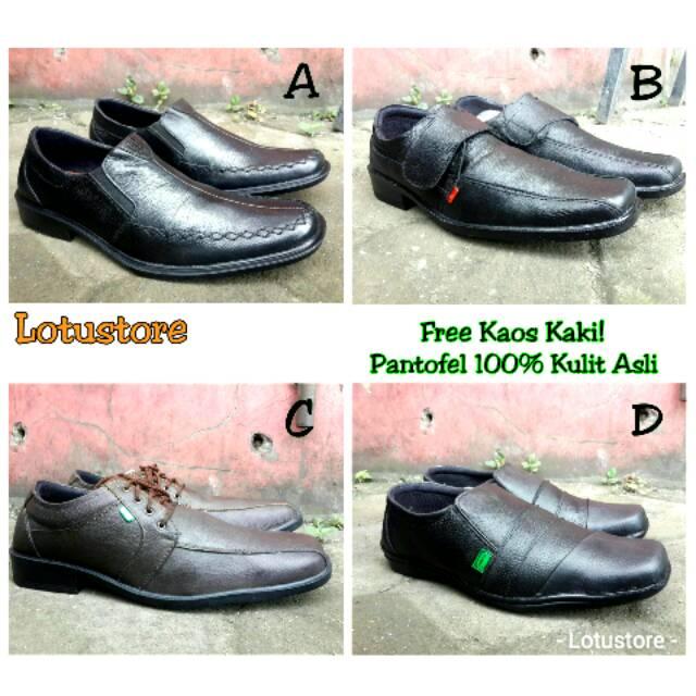 Sepatu Gucci slip on slop loafers grade original leather kulit asli casual  formal kerja kantor pria 020411f1ba