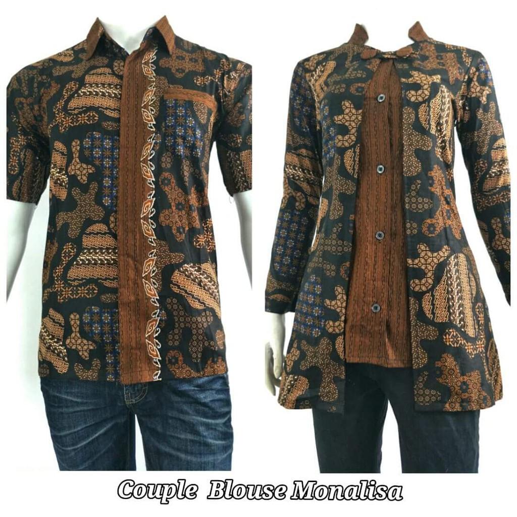 Atasan Batik Couple Sarimbit Batik Seragam Guru Baju Kerja Batik M