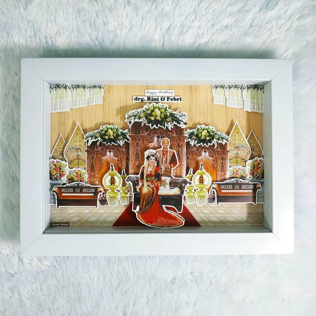 kado wedding popup frame 3d ukuran 20x30cm shopee indonesia kado wedding popup frame 3d ukuran 20x30cm