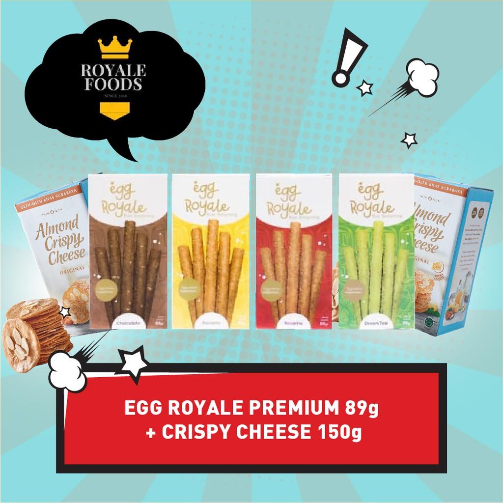 Egg Royale 89gr Bonus Almond Crispy Cheese 150gr Camilan cemilan coklat chocolate keju