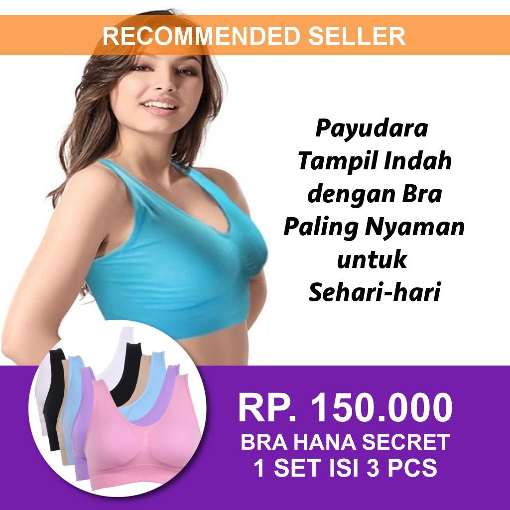 Pakaian Dalam Wanita BH Olahraga Gym Fitness Bra Sport Tali Belakang ... 49b0961f70